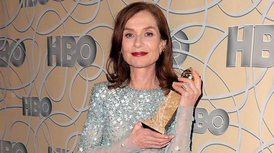 Isabelle Huppert získala Zlatý glóbus.