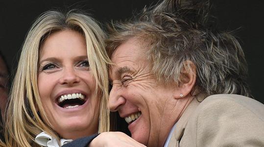 Rod Stewart se svou třetí manželkou Penny Lancaster