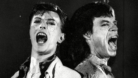 David Bowie s Mickem Jaggerem
