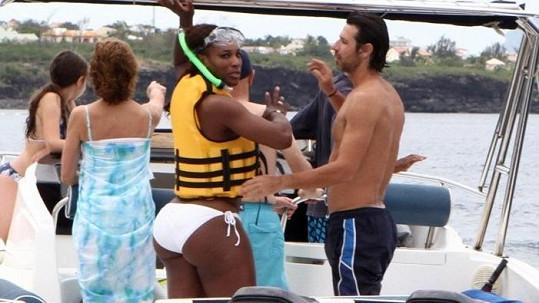 Serena se svým přítelem a trenérem v jedné osobě.