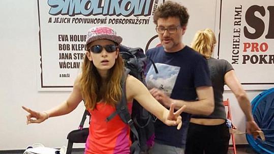 Marika Šoposká s Patrikem Hartlem na kostýmovce
