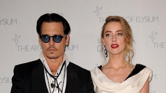 Johnny Depp s manželkou Amber Heard