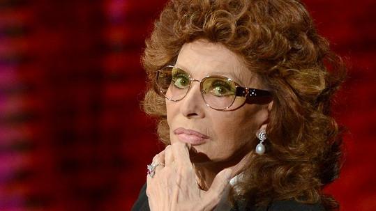 Sophia Loren úpravy obličeje zavrhla.