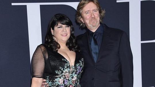E. L. James s manželem, který adaptoval její dílo do podoby scénáře.