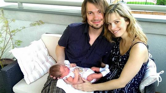 Lucie s manželem a dcerkou Sofinkou
