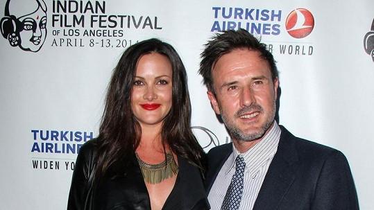 David Arquette se snoubenkou Christinou McLarty