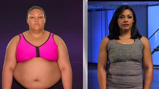 Kim se dostala na polovinu své původní váhy.