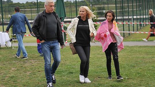 Šárka Grossová s novým partnerem Jiřím a dcerou Natálkou