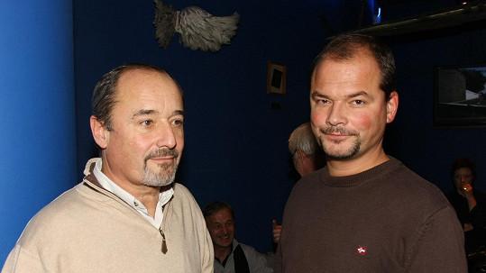 Viktor Preiss se synem Martinem
