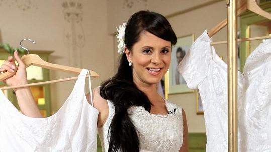 Laďka Něrgešová jako nevěsta