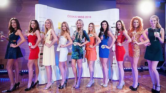 Jedna dívka z této desítky se stane Českou Miss 2016.