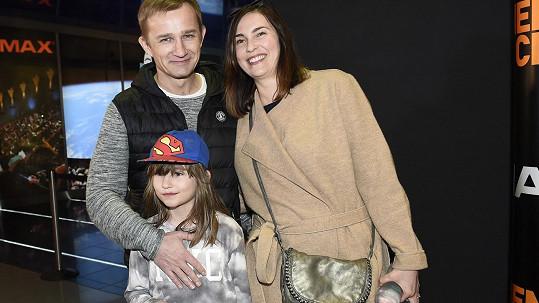 Kryštof Michal s manželkou a dcerou