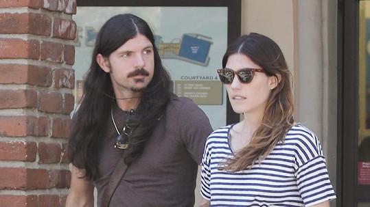 Jennifer Carpenter se snoubencem Sethem Avettem
