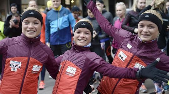 Zleva: Lily Luik, Liina Luik a Leila Luik si zaběhají i na olympiádě v Riu!