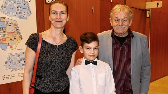 Karel Šíp s manželkou Ivou a synem Honzíkem