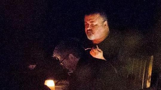 George Michael na své poslední fotografii před smrtí.
