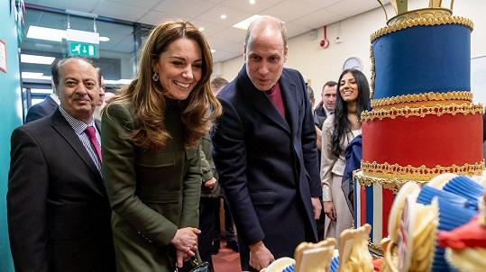 Vévoda a vévodkyně z Cambridge na návštěvě v Bradfordu