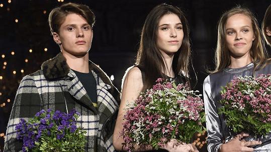 Tahle trojce patří mezi naděje světového modelingu. Zleva Martin Burian, Jasmína Simová a Marie Sýkorová