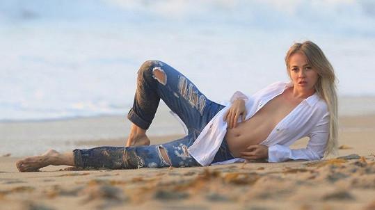 Ruská herečka a modelka Ellen Alexander