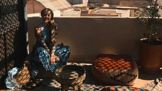 Anička Slováčková relaxovala v Maroku.