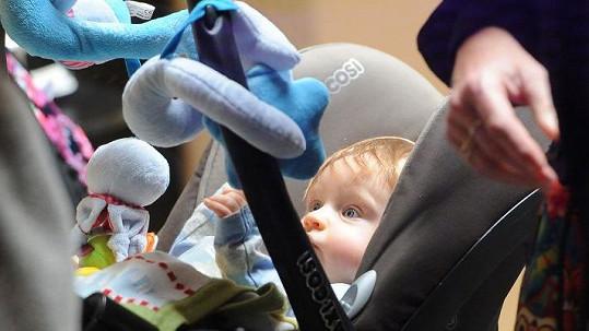 To je pětiměsíční vnuk Světlany Nálepkové Michal.
