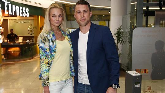 Tereza Fajksová s přítelem Lubošem