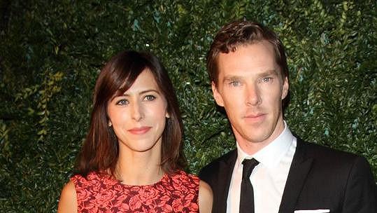 Benedict Cumberbatch s těhotnou manželkou Sophií Hunter