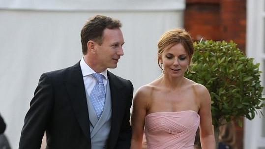 Geri Halliwell se svým snoubencem Christianem Hornerem