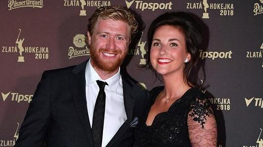 Jakub Voráček s přítelkyní Markétou