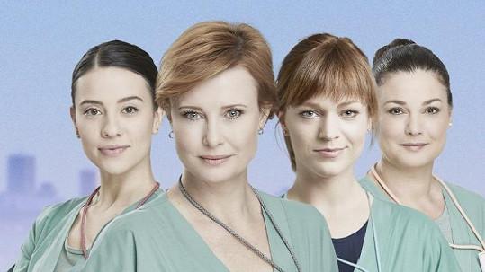 V hlavních rolích seriálu Anatomie života se představily (zleva) Barbora Černá, Jitka Schneiderová, Ester Geislerová a Martina Preissová.