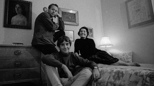 Miroslav Horníček s manželkou Bělou a synem Honzou