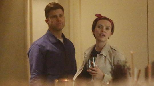 Scarlett Johansson s přítelem v Praze