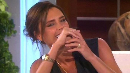 Victoria Beckham byla hostem u Ellen DeGeneres.