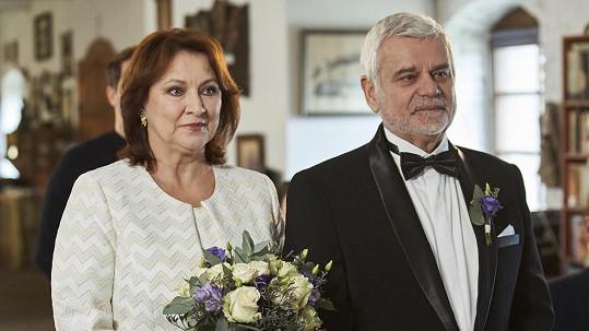 Zlata Adamovská a Petr Štěpánek na své třetí svatbě