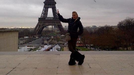 Michaela Ochotská odjela na Silvestra do Paříže.