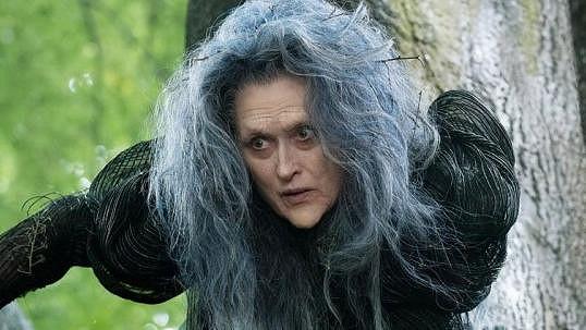 Meryl Streep jako zlá čarodějnice.