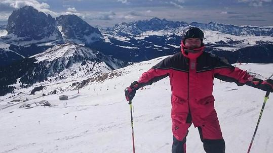 Daniel Hůlka na lyžích