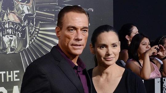 Jean-Claude Van Damme se svou dvojnásobnou manželkou Gladys Portugues