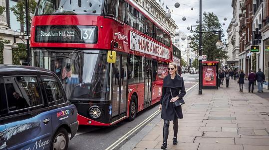 Němcová trávila víkend v Londýně.