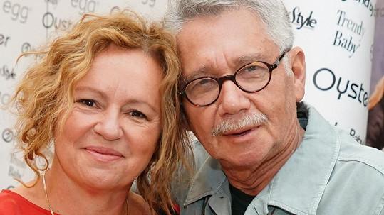 Herečka Jitka Sedláčková s přítelem Pavlem Töpferem
