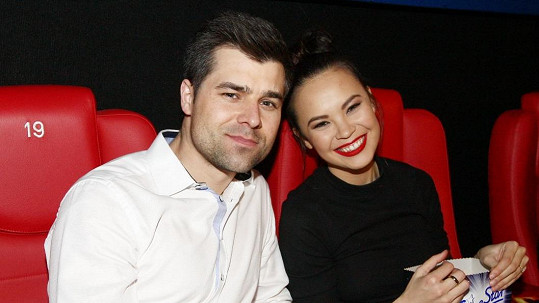 Monika se snoubencem Martinem