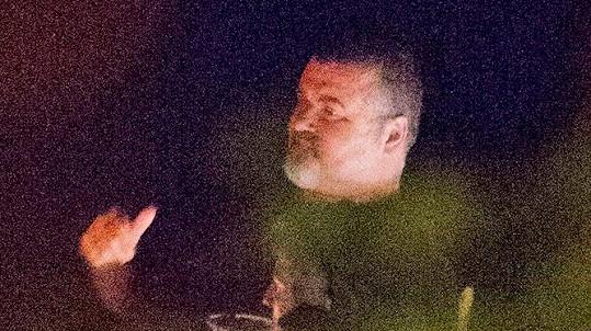 George Michael na večeři v restauraci v Oxfordshire