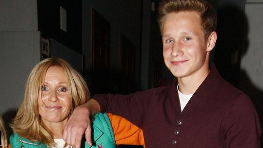 Tereza Pergnerová se synem Samuelem