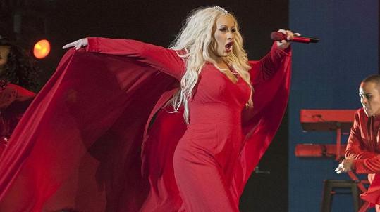 Christina Aguilera v sobotu zazpívala v Maroku.