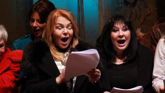 Dagmar Havlová a Dáda Patrasová si zazpívaly.