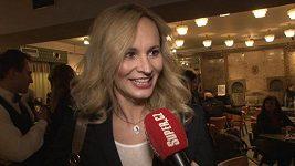 Monika Absolonová na premiéře Angeliky