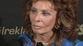 Sophia Loren odpovídá na otázky Super.cz