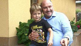 Sebastian David s dědečkem