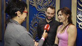 Olga Šípková a Marek Dědík před finále Star Dance