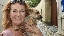 Simona Stašová se psem
